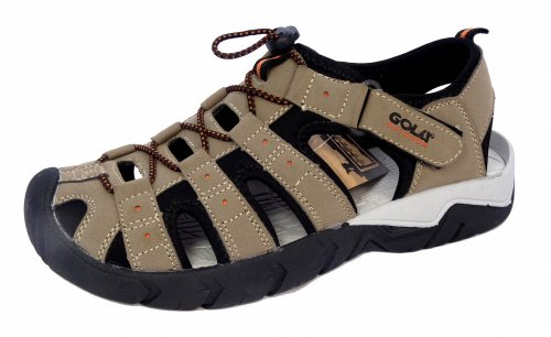 Gola, Sandali sportivi uomo Beige (Taupe/Black/Burnt Orange)