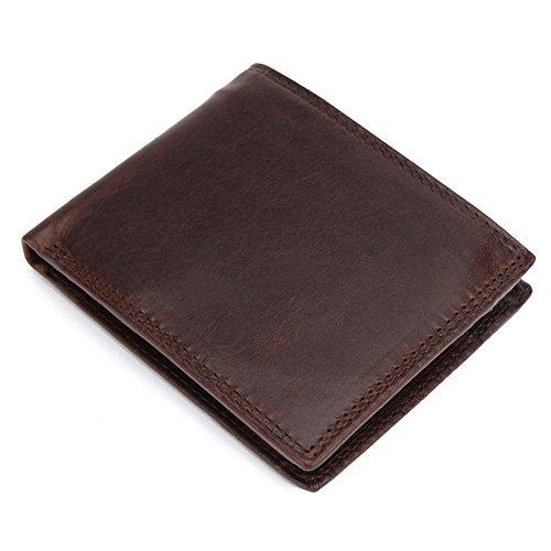 Stepack Marke echtes Leder Brieftasche Vintage Bifold kurze Brieftasche für Männer