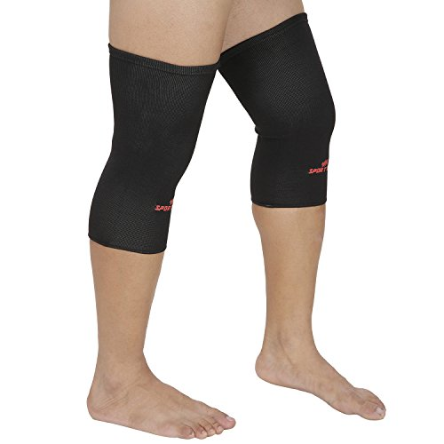 SportSoul KSCM2P Premium Slip-on Compression Knee Support, Medium Pack of...