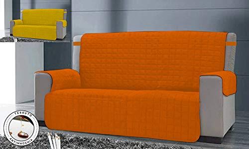 Banzaii copridivano salvadivano trapuntato bicolor antimaccchia imbottito reversibile 1 posto, 2 posti, 3 posti e 4 posti (arancio/giallo, 3 posti)