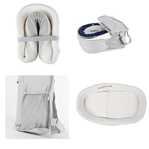 Baby Infant Bassinet Crib Travel Bed Sleeper Mattress Pad Lounger Cradle Newborn Portable (Pink)  SeedFuture