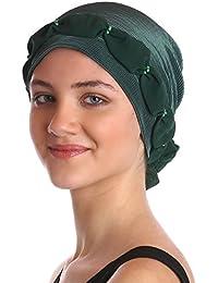 Plissée et perlée Détail Coiffe pour Perte de Cheveux, Cancer, Chimio