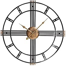 reloj de pared clásico Redondo Retro Relojes Decorativos de Hierro Forjado Europeo Creativo