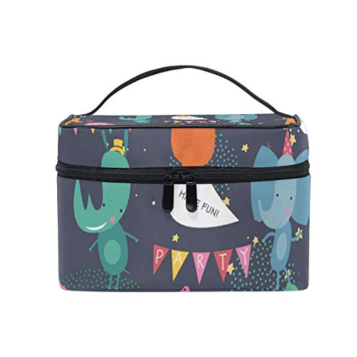 eißverschluss Kosmetiktasche Clutch Animal Party Single Layer Tragbare Reise Aufbewahrungstasche Tasche Platz für Frauen Dame ()