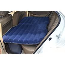 Car Travel Inflatable Mattress Inflatable Bed Camping Back Seat Extended Mattress for Parent-child or Lover (Blue)