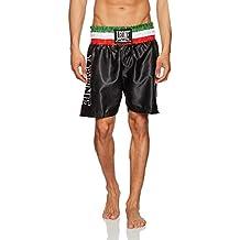 Leone 1947 AB733 Pantalón de boxeo negro negro Talla:Medium