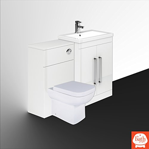 Newton White Combination Vanity Units (600mm Appleby Pan Ceramic Basin)