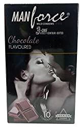 Manforce Condoms - Chocolate (3 in 1), 10 Pieces Carton