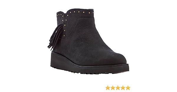 101a389ceea Ugg Australia Womens Cindy Black Leather Boots 38 EU: Amazon.co.uk ...