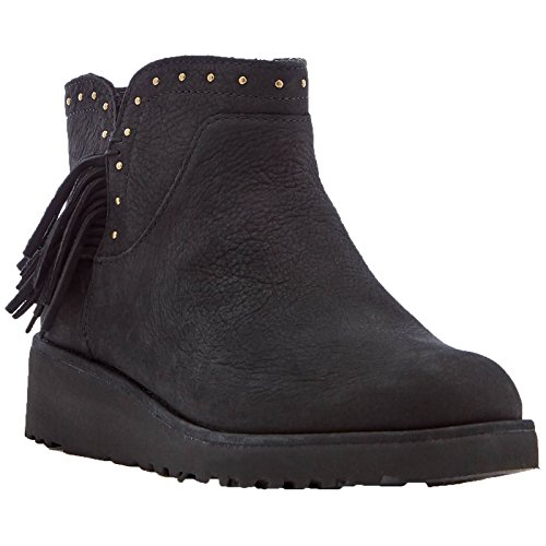 Ugg Australia Womens Cindy Black Leather Boots 37 EU