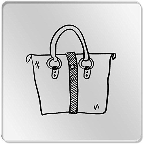 6 x 'Handtasche' Klar Untersetzer (CR00114598)