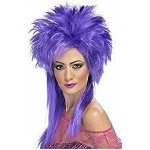 el carnaval Peluca punky lila