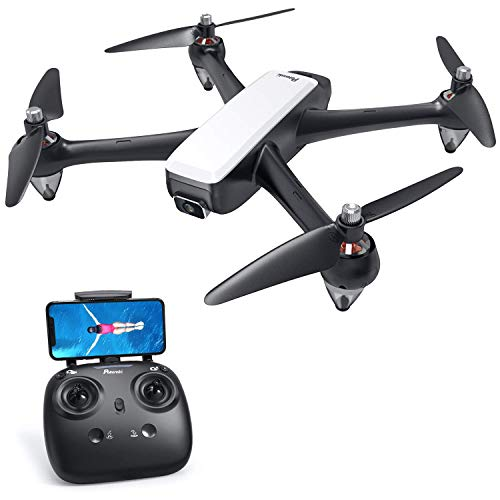 Potensic Brushless FPV GPS Drohne mit 1080P Kamera, GPS RC Drohne D60, Live-Video, RC Quadrocopter mit Bürstenlose Motoren, Follow-Me-Funktion und 5G-WLAN-Übertragung für Anfänger und Experte (Weiß)