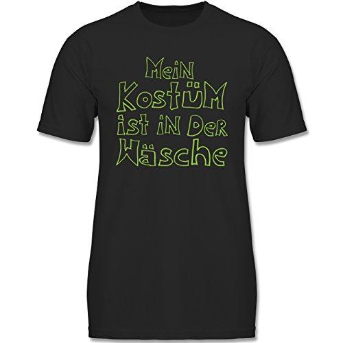 Karneval & Fasching Kinder - Mein Kostüm ist in der Wäsche - 164 (14-15 Jahre) - Schwarz - F140K - Jungen T-Shirt (Beliebte Teenager Halloween Kostüme)