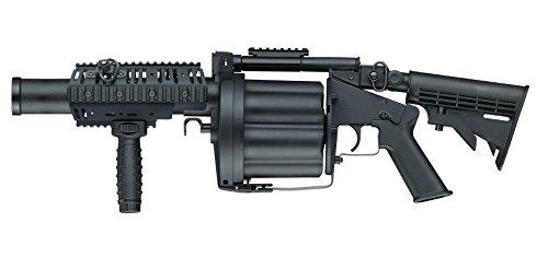 Airsoft ICS-192 MGL Längere Version 40mm Revolver-Granatenwerfer In Schwarz Von Höchster Qualität Unter 0.5 Joules