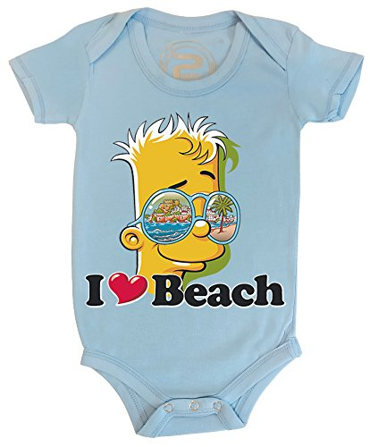 PIXEL EVOLUTION 3D animierte Body Baby BART Love Beach in Augmented Reality größe 12 Mois - Himmelblau
