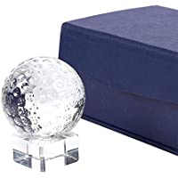 Juvale - Trofeo de golf compacto de cristal óptico con base separable, incluye caja de regalo, 5,1 x 6,6 x 5,1 cm