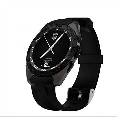 Wireless Smart Watch, sostegno cardiofrequenzimetro, comodo e pratico, display a LED orologio sportivo multifunzione, migliore qualità per touch screen indossabile intelligente monitoraggio attività, Black