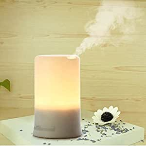 Tailcas® USB Mini Ultrasuoni Aromaterapia Purificatore d'Aria Oli Essenziali Aromi Diffusore Aroma Diffusore con Warm Color LED Light & 4 Timer Settings & Low Water Level Auto Off per Casa / Ufficio / Car