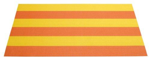 ASA Selection Set de table en plastique avec Rayures Orange