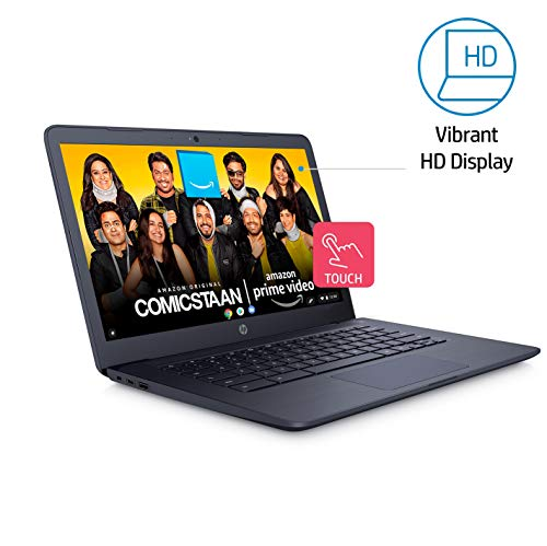 HP Chromebook 14-Inch Thin and Light Touchscreen Laptop (Intel N3350/4GB/64GB onboard + Additional Cloud storage/256GB Expandable/Chrome OS/Backlit/Chalkboard Grey/1.5kg), 14-ca002TU Image 4