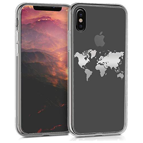 kwmobile Apple iPhone X Hülle - Handyhülle für Apple iPhone X - Handy Case in Silber Transparent