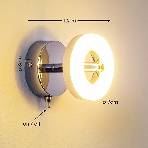 Faretto LED Parete Stile Moderno- Luce Bianca Calda Ideale come ...
