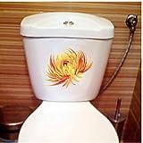 Annqing 3 Stücke Hand Gezeichnete Vintage Gelb Chrysantheme Wandaufkleber Wandhaupt Toilette Dekoration 23X18 Cm