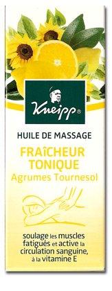 Kneipp Huile de Massage Tournesol et Agrumes 100 ml
