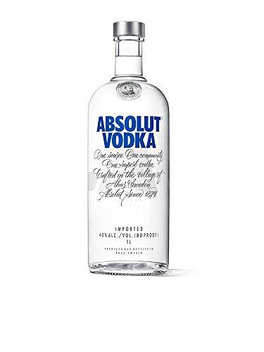Absolut Vodka Original - Edler und extrem reiner Premium-Vodka aus Schweden in der ikonischen Apotheker-Flasche - 1 x 1 L