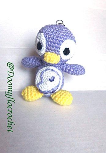 porte-cles-pingouin-gentoo-linux-mauve-au-crochet-et-en-coton
