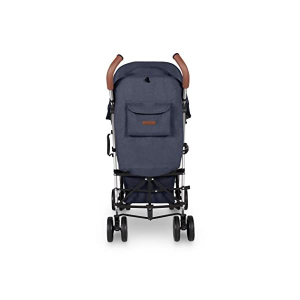 Ickle Bubba Baby Strollers   Lightweight Stroller Pushchair   Compact Fold Technology for Easy Transport and Storage   UPF 50+ Extendable Hood and Rain Cover   Discovery, Denim Blue/Silver Ickle Bubba ONE-HANDED 3 POSITION SEAT RECLINE: Baby stroller suitable from birth to 20kg-approx. 4 years old; features rain cover UPF 50+ RATED ADJUSTABLE HOOD: Includes a peekaboo window to keep an eye on the little one; extendable hood-UPF rated-to protect against the sun's harmful rays and inclement weather LIGHTWEIGHT DESIGN WITH COMPACT FOLD TECHNOLOGY: Easy to transport, aluminum frame is lightweight and portable-weighs only 7kg; folds compact for storage in small places; carry strap and leather shoulder pad included 6