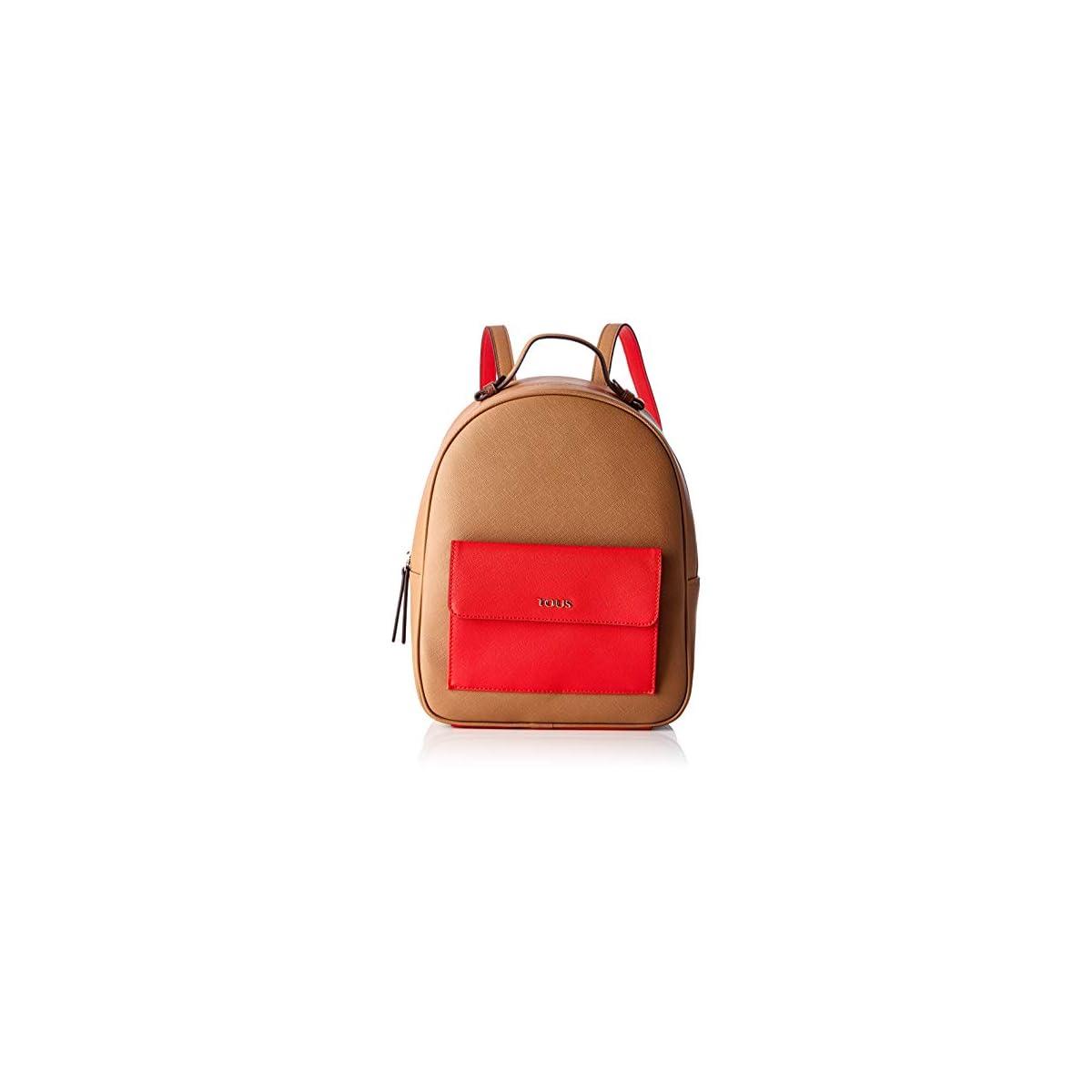 41PLgRO2ReL. SS1200  - Tous Mochila Essence MARRÓN-Rojo, Bolso Mujer, 25x31x12 cm (W x H x L)