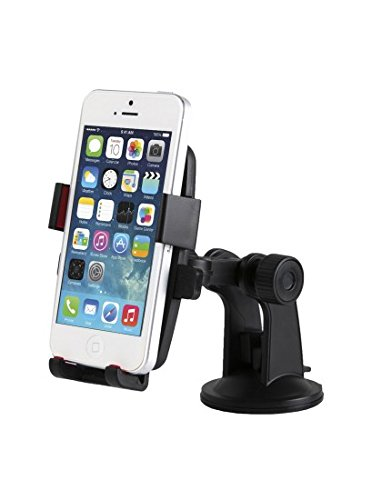 Price comparison product image XtemeAuto® Universal Auto-Lock Phone/Device Holder - Apple Iphone, Samsung Galaxy, HTC, Motorola, Microsoft, Nokia, Sony, LG