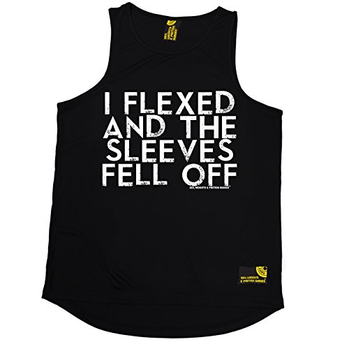 I Flexed And The Sleeves Fell Off Vest Body Building Gym Training birthday gift