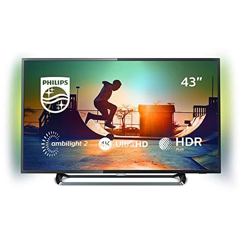 Philips Ambilight 43PUS6262/12 Fernseher 108 cm (43 Zoll) LED Smart TV (4K UHD, HDR Plus, HDMI, USB, Triple Tuner)