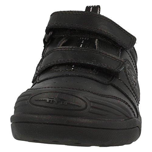 Clarks école garçons Cache-oreilles avec revêtement cuir-Noir Noir - noir