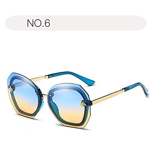 XHCP Frauen polarisierte Klassische Flieger-Sonnenbrille, Sonnenbrille für Frauen verdünnen 100% UVschutz 400 Schutz, der Gläser im Freien fährt (Farbe: NO.6, Größe: Freie Größe)