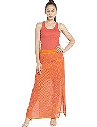 Orange Ethnic Skirt