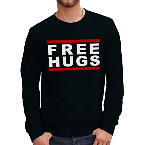 Felpa girocollo FREE HUGS - FUNNY by MUSH Dress Your Style - Uomo-L-NERA
