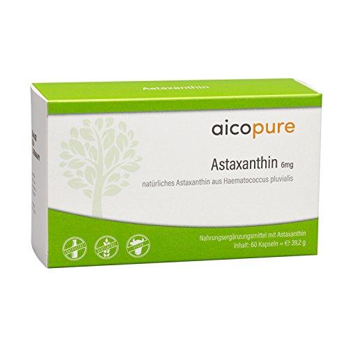 Therapie 60 Kapseln (ASTAXANTHIN 6 mg Kapseln • hochdosiert • reine Qualität aus Haematococcus Pluvialis • vegan • Made in Germany (60 Kapseln))