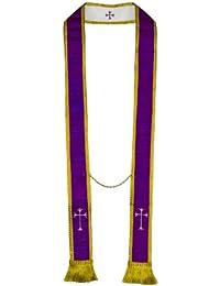 Stole - Pure Silk Visitation/Confessional - Reversible