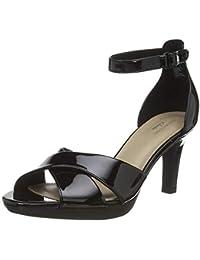 Clarks Adriel Cove, Zapatos con Tacon y Correa de Tobillo Mujer
