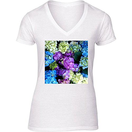 t-shirt-bianco-scollo-a-v-donne-taglia-m-cespuglio-di-fioritura-colorati-by-costasonlineshop