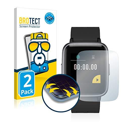 BROTECT Full-Cover Schutzfolie kompatibel mit Yamay Fitness Tracker SW020 (2 Stück) - Full-Screen Displayschutz-Folie, 3D Curved, Kristall-Klar