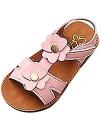 07e58d7f25c67 OHQ Sandales Fille enfant Fleur Princesse Chaussures Beige Jaune Rose  Enfants Kid Infant Girls Non-