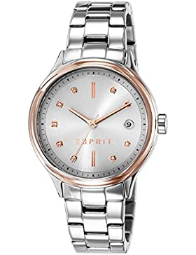 Esprit Damen-Armbanduhr ES-CAROLINE SILVER Analog Quarz Edelstahl ES108552001