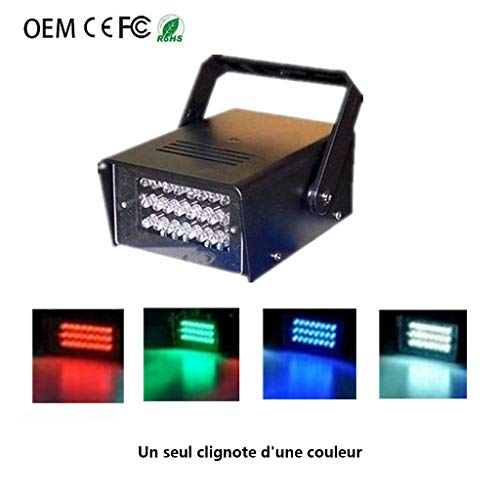 Disco-Lichter, 24 LED Kleine Blitzleuchten, Mini Strobe-Lichter, Bühnenbeleuchtung for KTV Private Room Bars Stage Disco F1 ( Color : White ) -