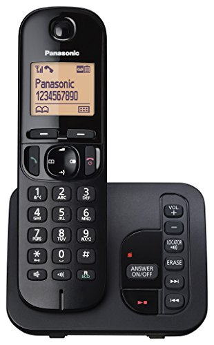 Panasonic KX-TGC220EB Digital Cordless Phone with LCD Display - Black