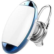Mini Auricolare Bluetooth,Coio Leggero Auricolare Wireless Bluetooth 4.0 Earbuds In-ear con Microfono e Vivavoce per iPhone Samsung Galaxy e Altri Smartphone (Blu-bianco)